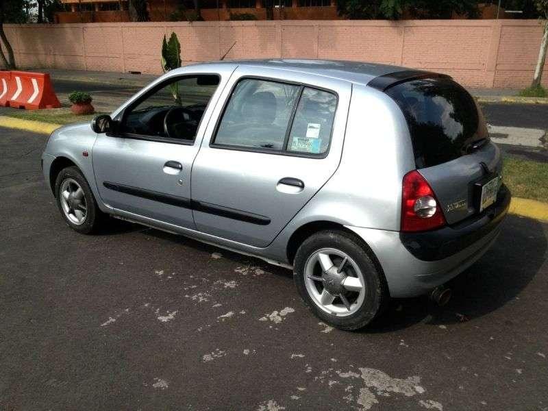 Renault Clio 2 generation [restyling] hatchback 5 dv. 1.2 MT (2001–2005)