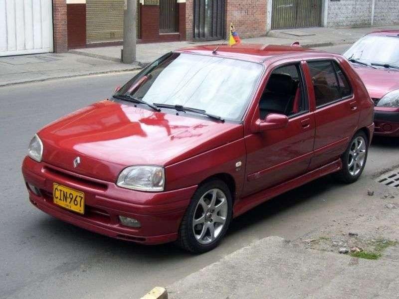 Renault Clio pierwszej generacji [zmiana stylizacji] hatchback 5 drzwiowy. 1,9 D MT (1996 1998)