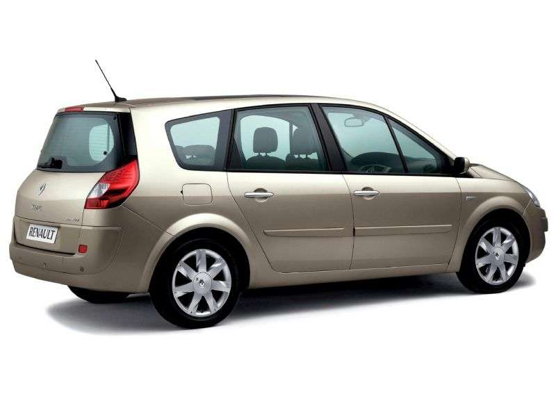 Renault Scenic 2nd generation [restyled] Grand minivan 5 dv. 1.6 MT (2009–2006)