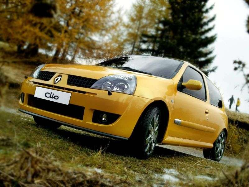 Renault Clio 2 generation [restyling] RS hatchback 3 dv. 2.0 T MT (2001–2005)