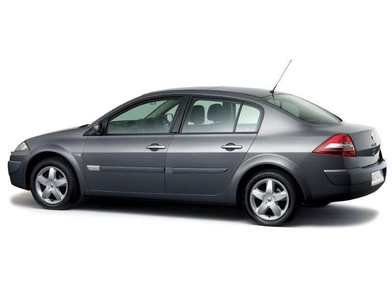 Renault Megane 2nd generation [restyling] 1.4 MT sedan (2006–2008)