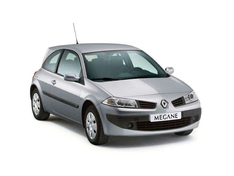 Renault Megane 2nd generation [restyling] 3 bit hatchback 1.6 MT (2006–2008)