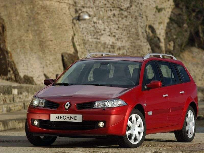 Renault Megane 2nd generation [restyling] 1.6 MT wagon (2006–2009)