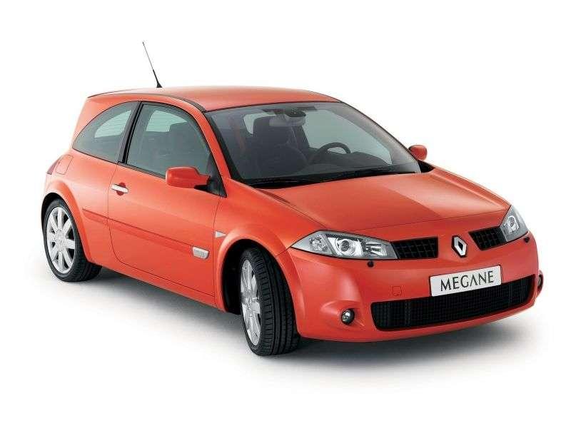 Renault Megane 2nd generation RS hatchback 3 dv. 2.0 T MT (2004–2006)
