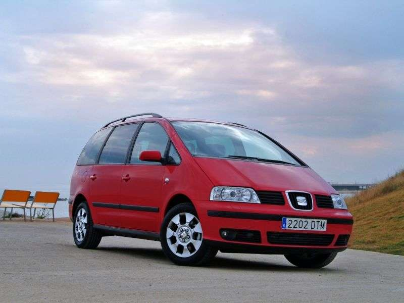 SEAT Alhambra 1st generation [restyled] minivan 1.9 TD MT 4WD (2000–2010)