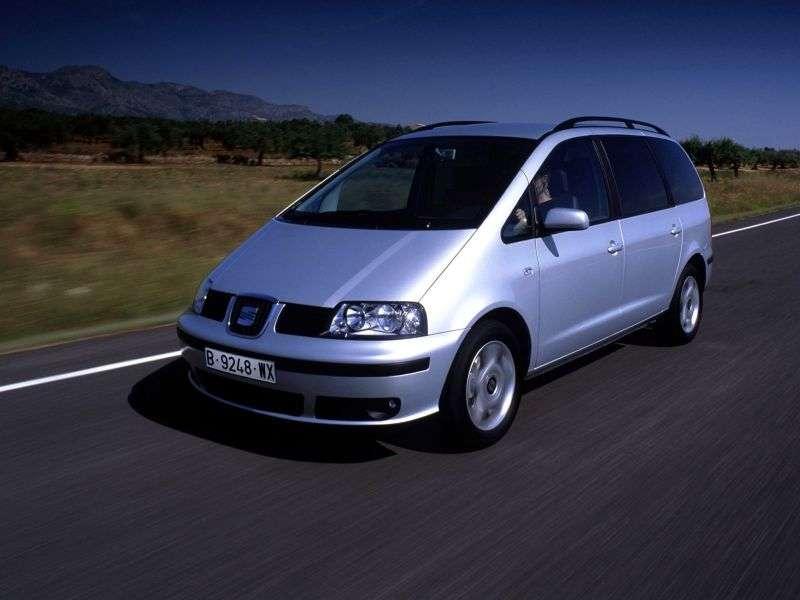 SEAT Alhambra 1st generation [restyled] minivan 1.9 TD MT (2000–2010)