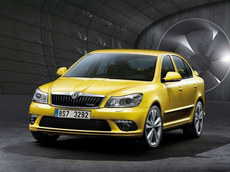 Skoda Octavia 2nd generation [restyling] RS liftback 5 bit 2.0 TDI MT (2009–2012)