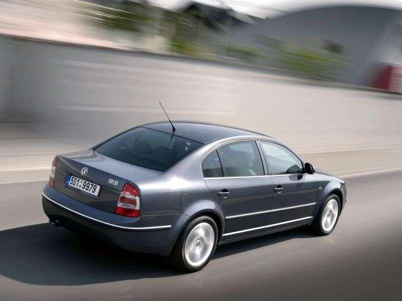 Skoda Superb 1st generation [restyling] 1.9 TDI MT sedan (2006–2007)