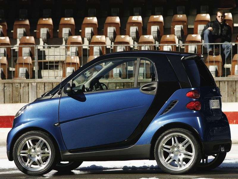 Smart Fortwo 2nd generation Brabus Hatchback 1.0 AT Turbo (2007–2010)