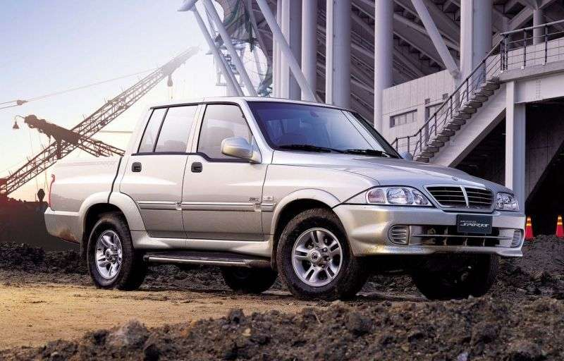 SsangYong Musso 2nd generation pickup 2.9 TDI MT (2002–2005)