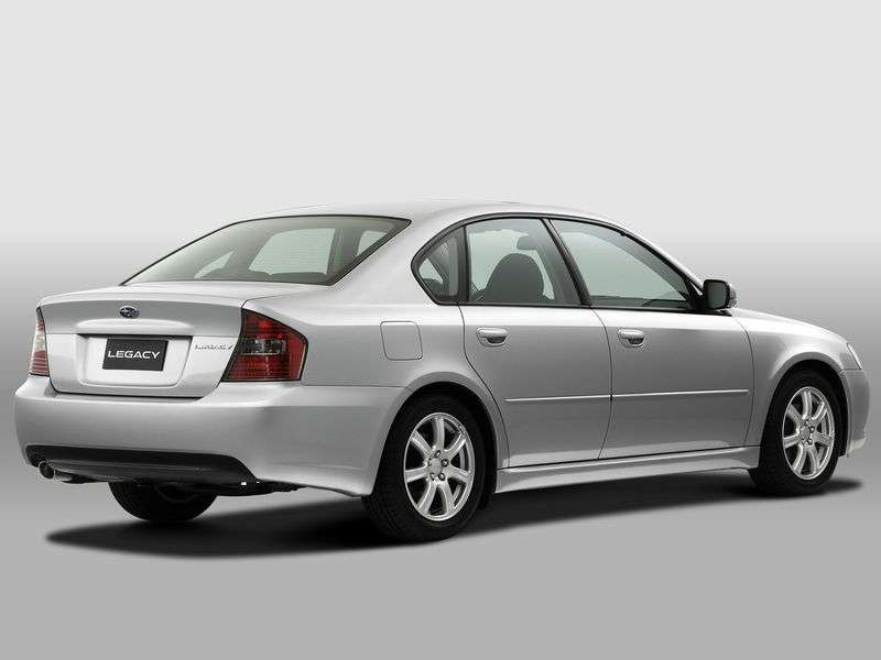 Subaru Legacy 4 generation sedan 2.5 MT 4WD (2006–2009)