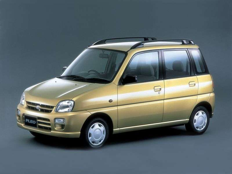 Subaru Pleo 1st generation hatchback 0.7 MT 4WD (2000 – n.)