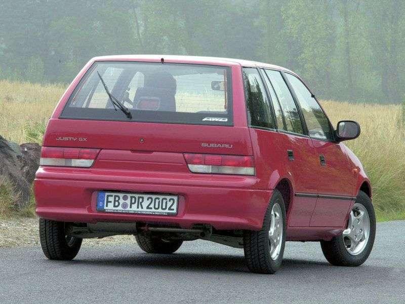 Subaru Justy 2 (JMA, MS) 5 bit hatchback 1.3 MT AWD (1994–2001)