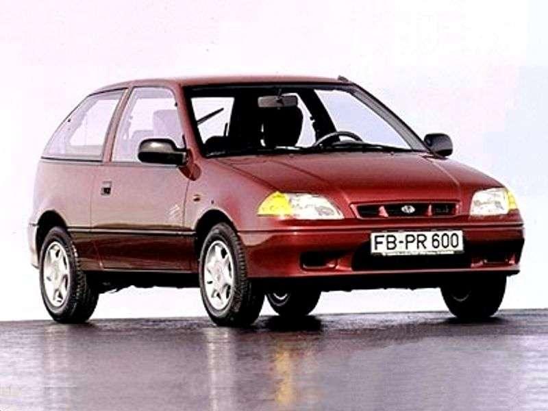Subaru Justy 2 (JMA, MS) 3 bit hatchback 1.3 MT AWD (1994–2001)