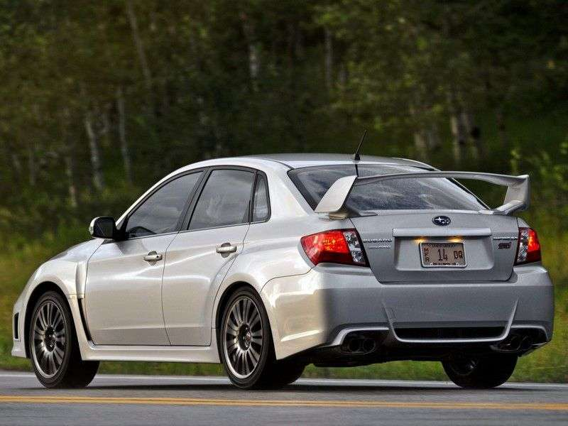 Subaru Impreza 3 generation [restyling] WRX STI 4 doors sedan. 2.5 MT AWD turbo EB (2012) (2010 – n. In.)