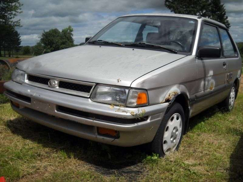 Subaru Justy 1 (KAD) [restyling] 3 bit hatchback 1.0 MT AWD (1989–1994)