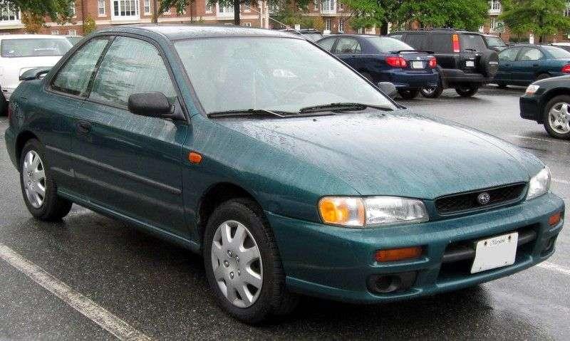 Subaru Impreza 1st generation [restyling] coupe RS 2.5 MT 4WD (1998–2000)