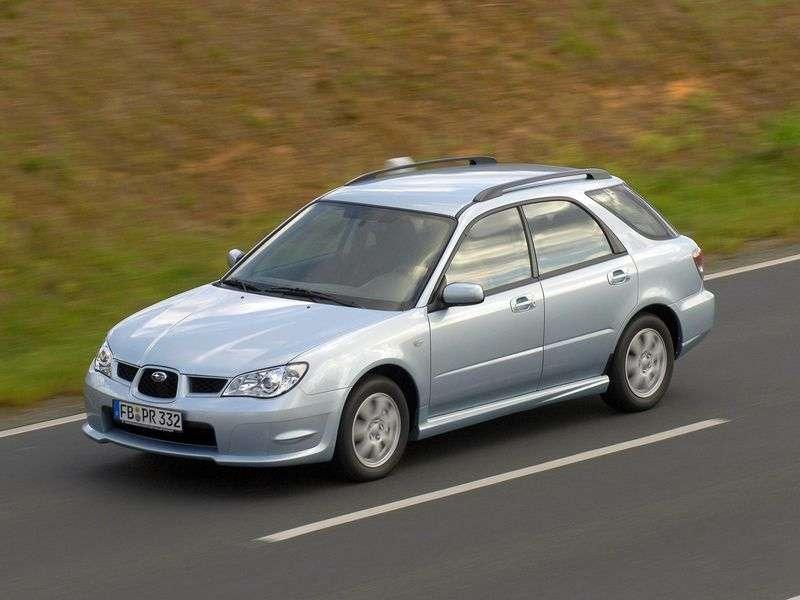 Subaru Impreza 2nd generation [2nd restyling] station wagon 1.5 I AT (2006–2007)