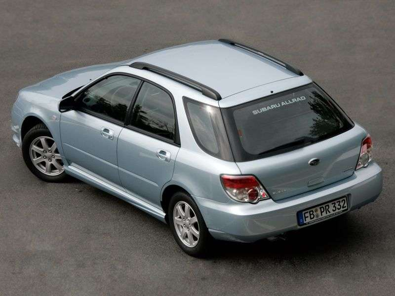 Subaru Impreza 2nd generation [2nd restyling] station wagon 1.5 I AT (2006–2007)