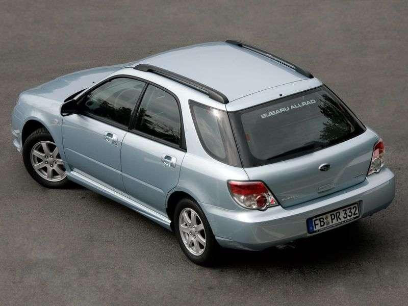 Subaru Impreza 2nd generation [2nd restyling] station wagon 1.5 R MT (2006–2007)
