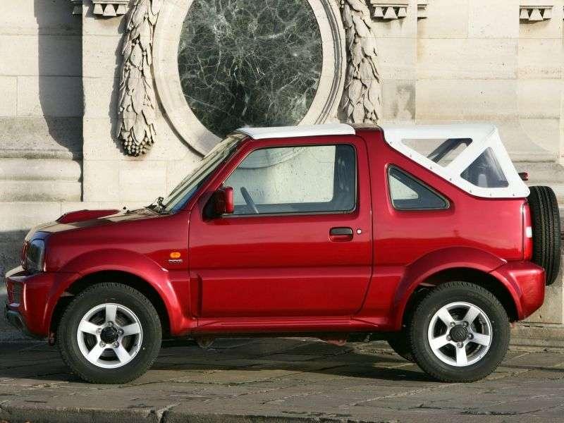 Suzuki Jimny 3rd generation [restyling] 1.3 MT convertible (2005–2006)