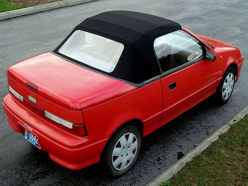 Suzuki Swift 2nd generation 1.3 MT convertible (1990–1995)