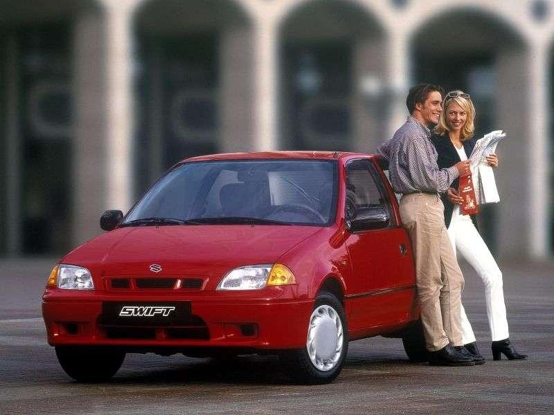 Suzuki Swift 2nd generation [restyling] 3 bit hatchback 1.0 AT (1996–2004)