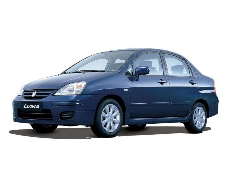 Suzuki Liana 1st generation [restyling] 1.6 MT 4WD sedan (2004–2007)
