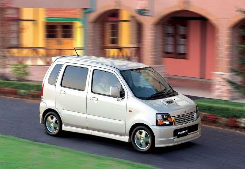 Suzuki Wagon R 2 generation [restyling] minivan 5 dv. 0.7 turbo AT (2000–2003)