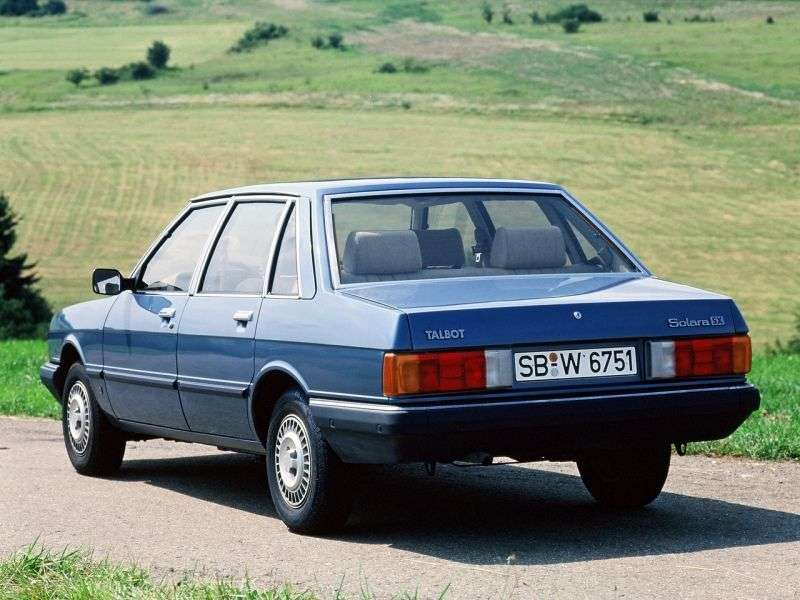 Talbot Solara 1st generation sedan 1.6 MT (1980–1987)