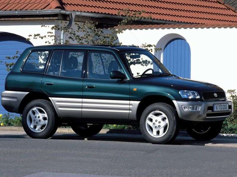 Toyota RAV4 1st generation [restyling] 5 bit crossover. 2.0 AT (1998–2000)