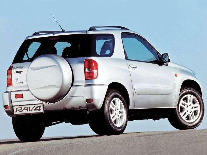 Toyota RAV4 3 drzwiowy crossover drugiej generacji 2.0 D MT AWD (2000 2006)