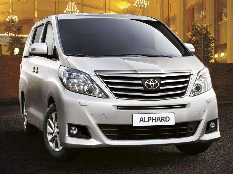 Toyota Alphard 2nd generation [restyled] minivan 2.4 AT 4WD (2011 – n.)