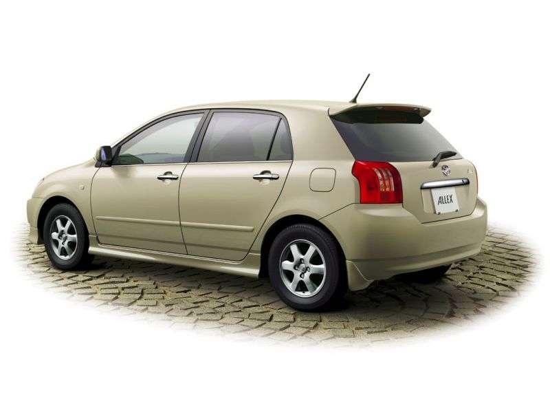 Toyota Allex E120 [restyling] hatchback 1.8 AT (2002–2004)