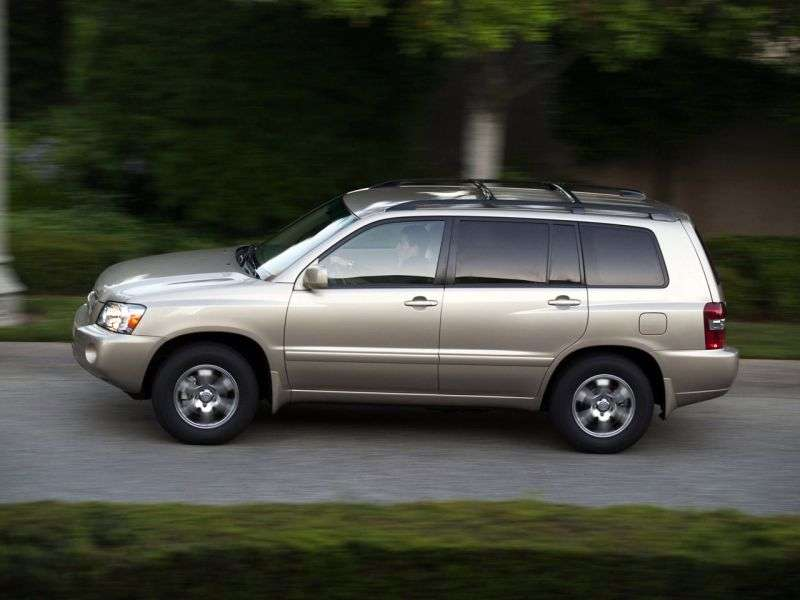 Toyota Highlander 1st generation [restyled] crossover 3.3 AT 5seat (2004–2007)