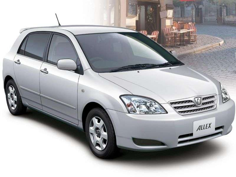 Toyota Allex E120 [restyling] hatchback 1.5 AT (2002–2004)