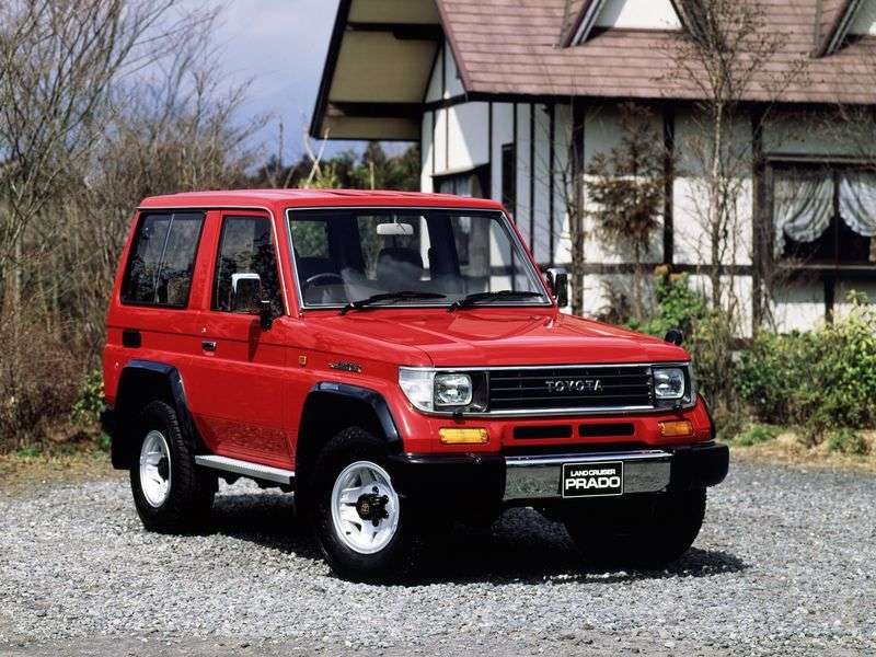 Toyota Land Cruiser Prado J70 3 bit off road vehicle 2.4 DT MT (1990–1992)