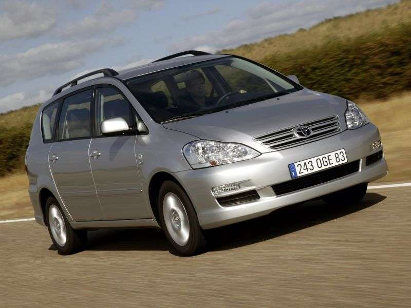 Toyota Avensis Verso 1st generation [restyled] minivan 2.0 MT (2001–2003)