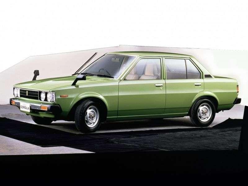 Toyota Corolla E70JDM sedan 4 doors. 1.8 Synchromesh (1979–1981)