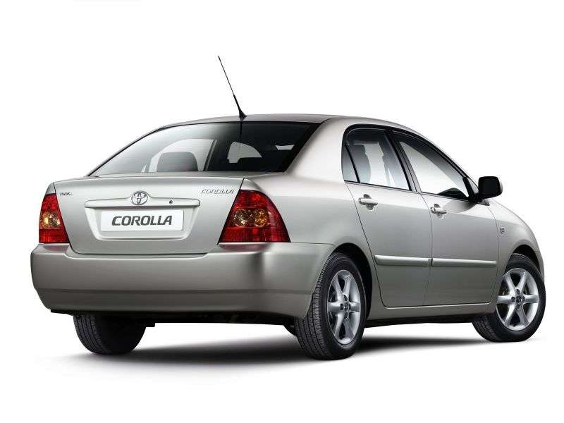 Toyota Corolla E130 [restyling] 4 door sedan. 1.4 MT (2004–2007)