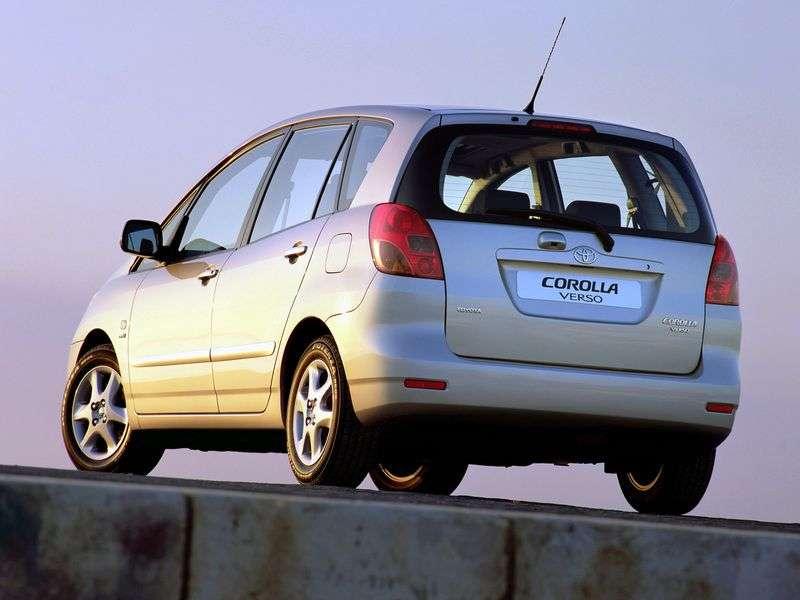 Toyota Corolla Verso 2nd generation Verso minivan 1.6 MT (2001–2006)