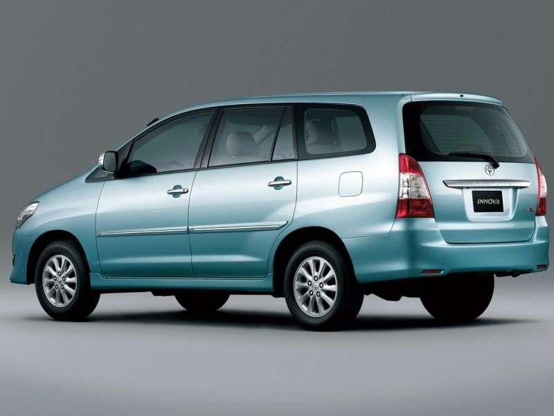 Toyota Innova 1st generation [2nd restyling] minivan 2.5 D 4D MT 8seat (2012 – n.)