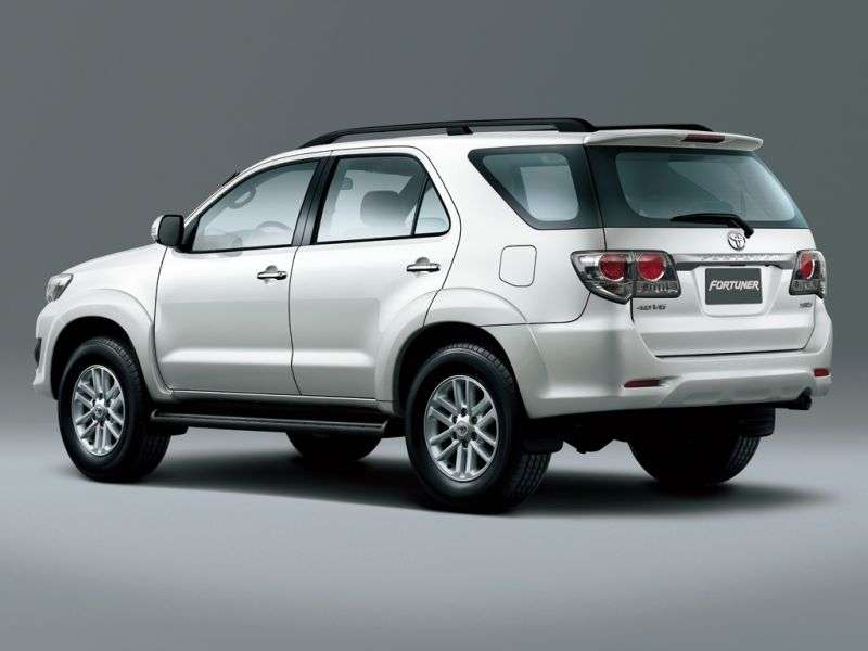 Toyota Fortuner 1st generation [2nd restyling] 2.5G MT SUV (2011 – current century)