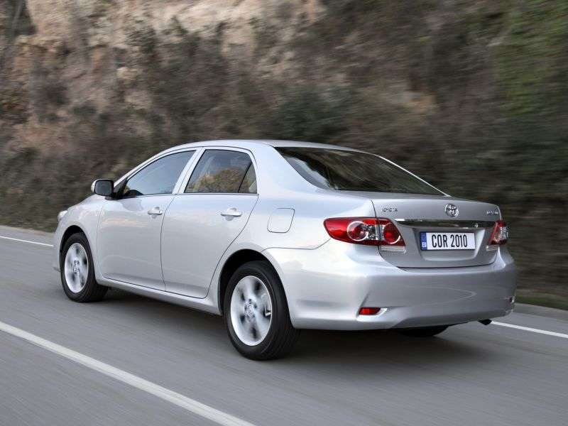 Toyota Corolla E150 [restyling] 4 door sedan 1.8 CVT (2010–2013)
