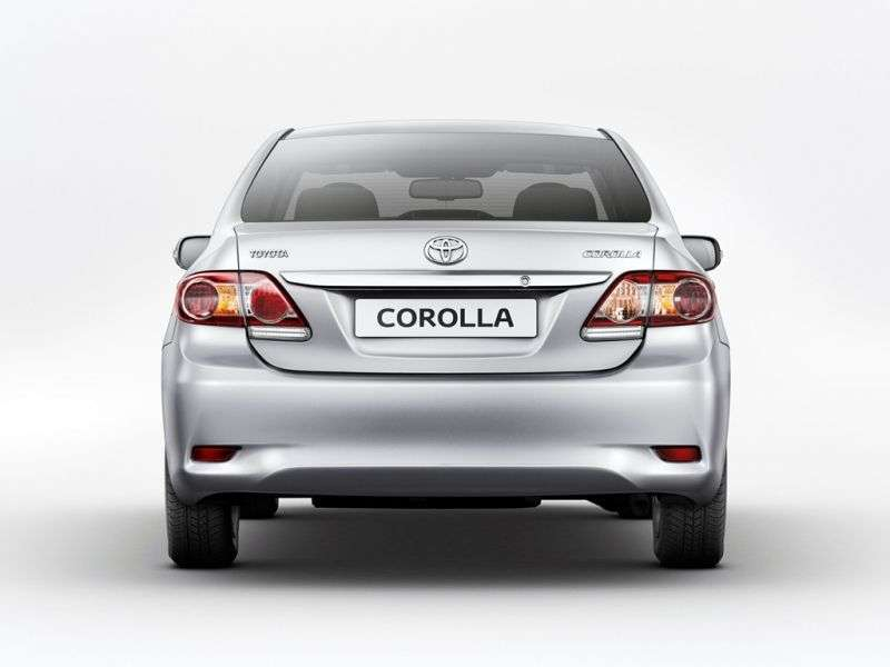 Toyota Corolla E150 [restyling] 4 door sedan 1.8 MT (2010–2013)