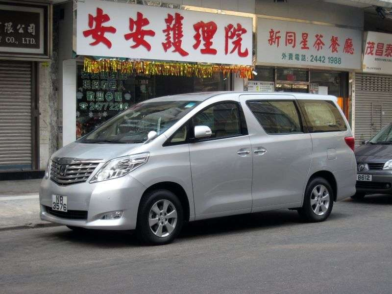 Toyota Alphard 2nd generation JDM minivan 5 dv. 2.4 CVT (7 places) (2008–2011)