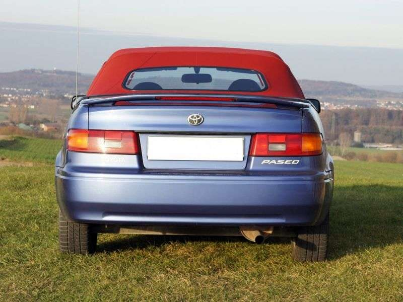 Toyota Paseo 2nd generation convertible 1.5 MT Overdrive (1997–1999)