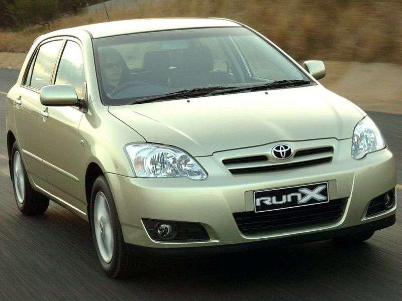 Toyota Corolla E130 [restyled] RunX hatchback 5 bit. 1.8 AT 4WD (2004–2006)