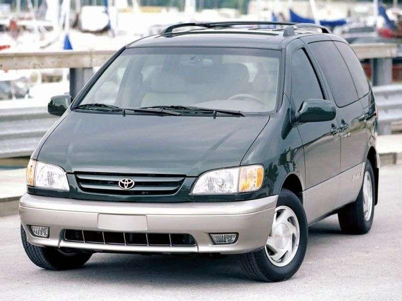 Toyota Sienna 1.generacja [zmiana stylizacji] minivan 3.0 AT (2001 2003)