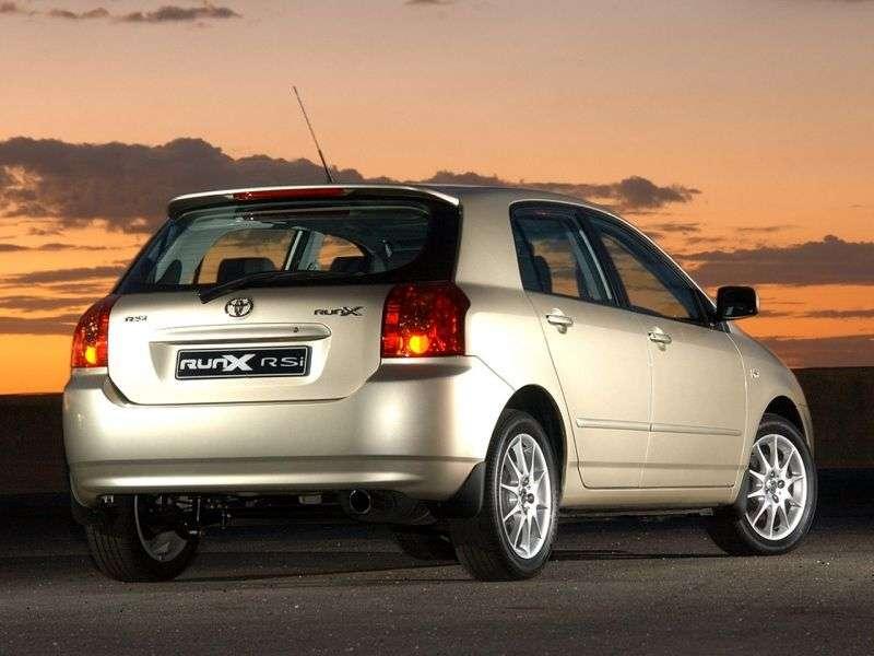 Toyota Corolla E130 [restyled] RunX hatchback 5 bit. 1.8 AT (2004–2006)